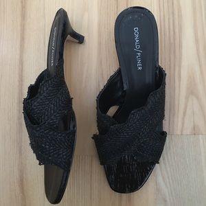 Donald J Pliner Sandals Slides Kitten Heel 9 M
